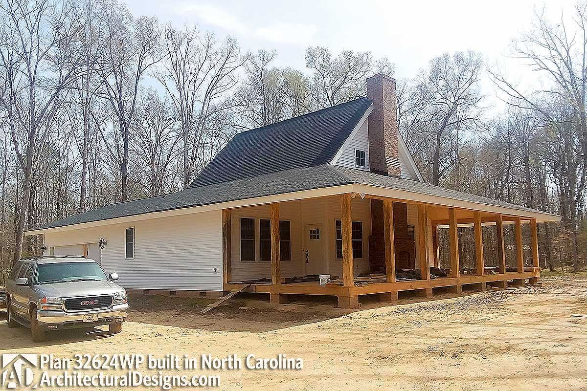 House Plan 32624wp Comes To Life In North Carolina Photo 001 House Plans A Frame House Plans Bedroom Getaway