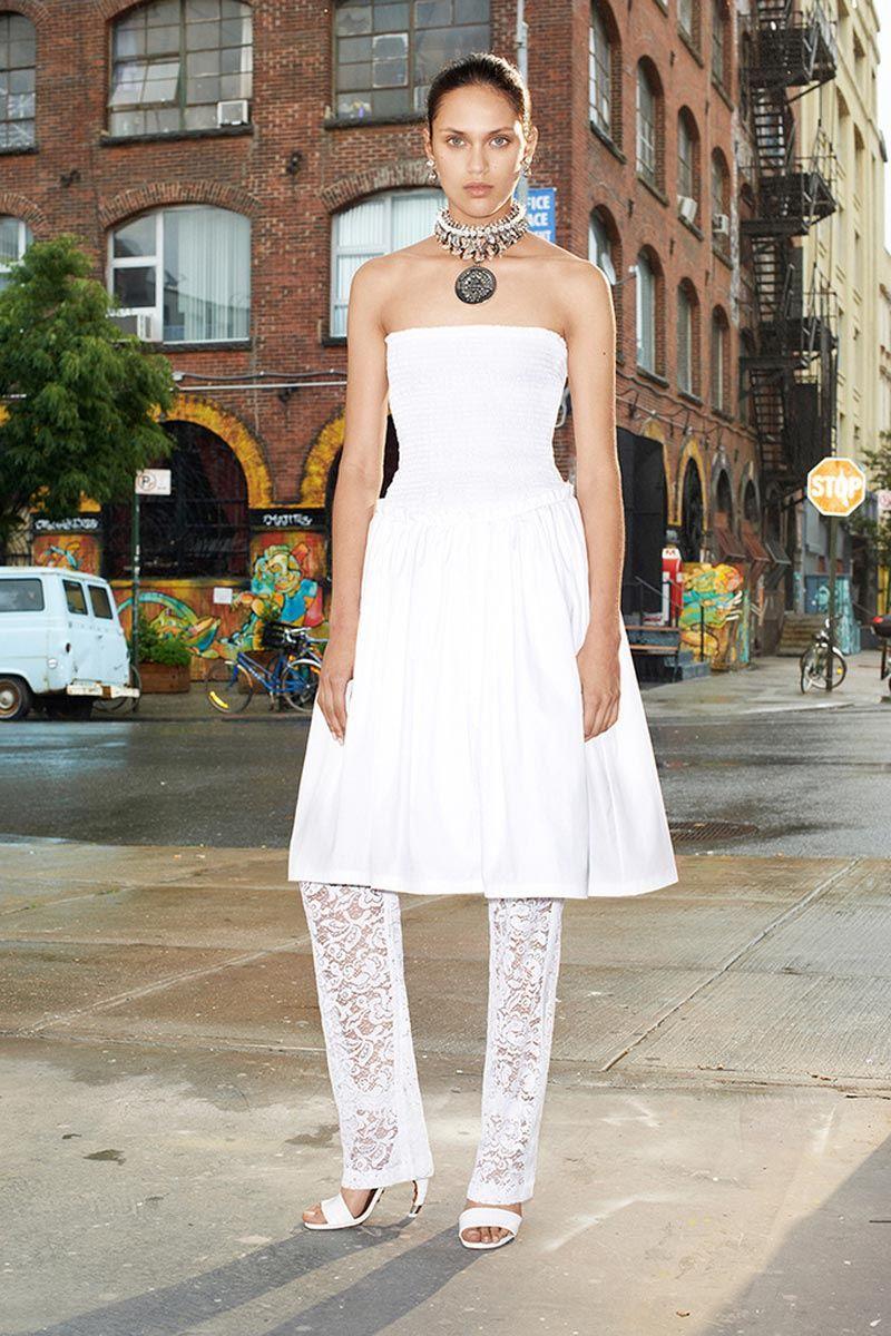 Givenchy Vestido de palabra de honor con falda acampanada hasta la ...