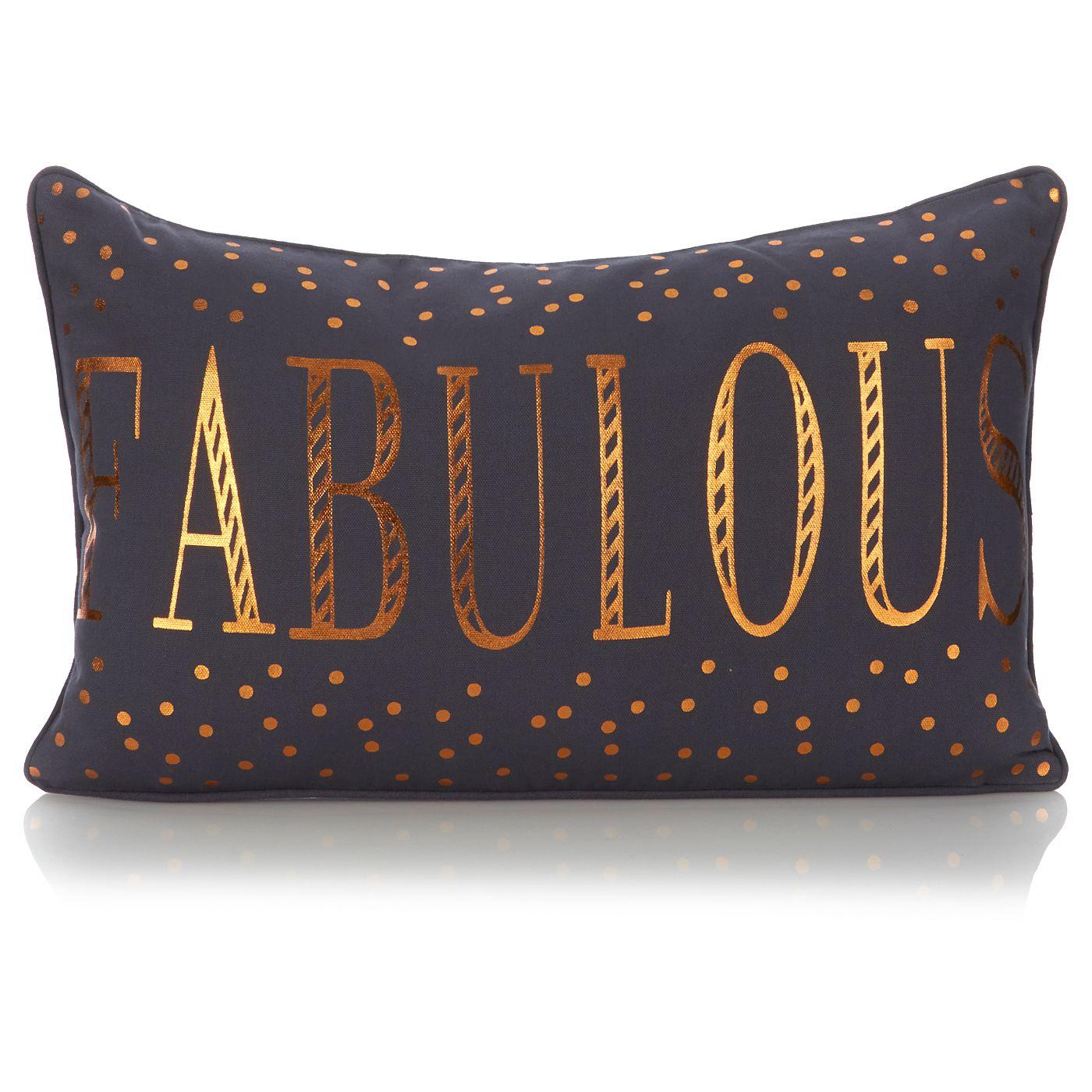 George Home Gold Fabulous Cushion Cushions ASDA direct