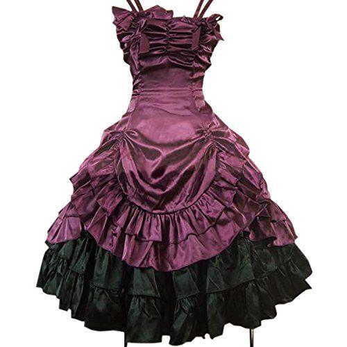 partiss damen gothic vintage lolita aermellos ruffles. Black Bedroom Furniture Sets. Home Design Ideas