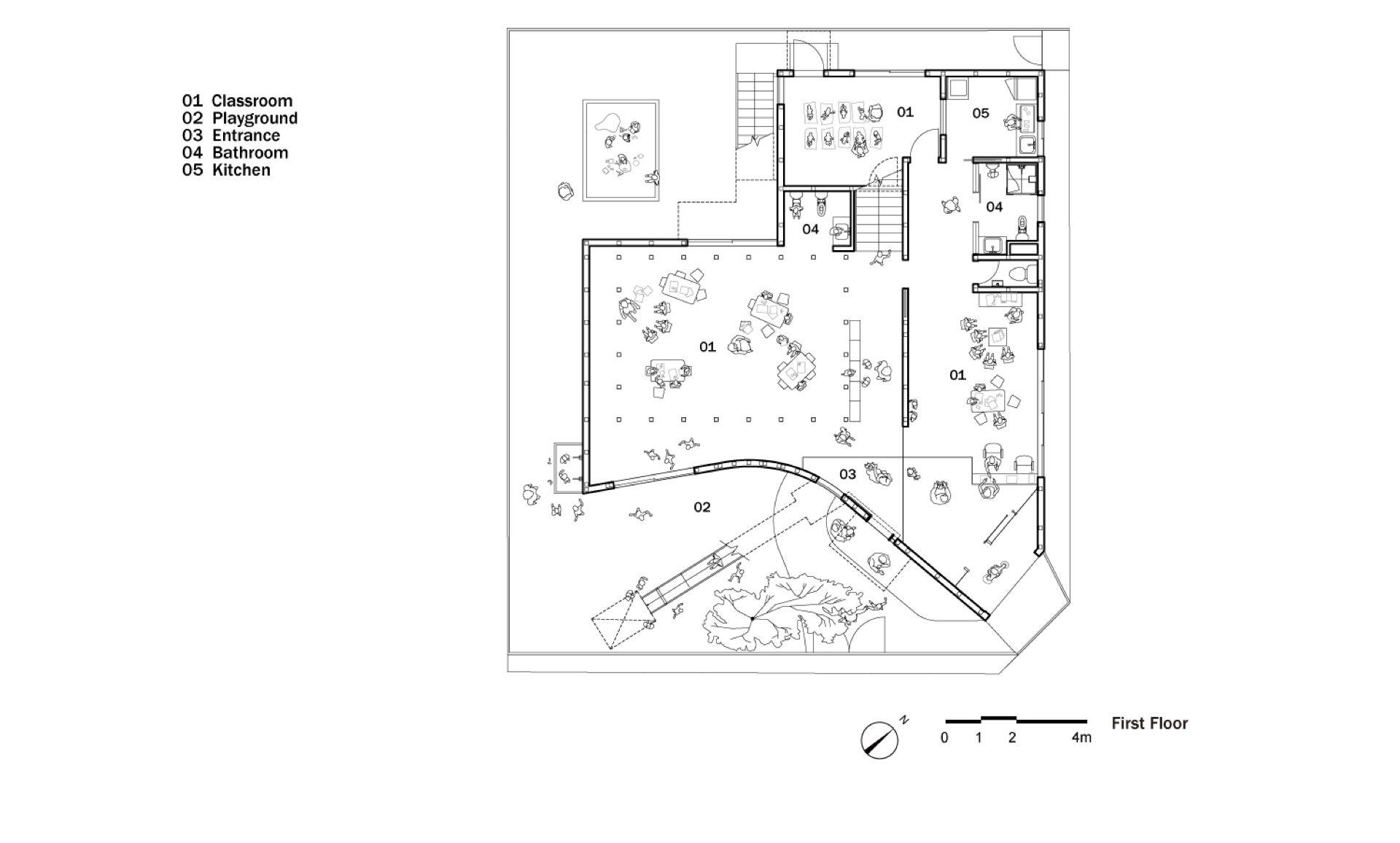 Mad Architects Clover House Kindergarten In Okazaki Japan