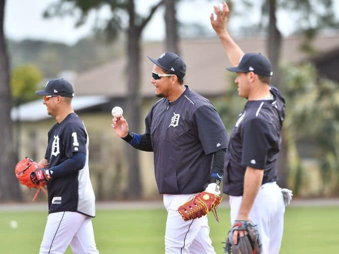 From Left Tigers Jose Iglesias Miguel Cabrera And Spring