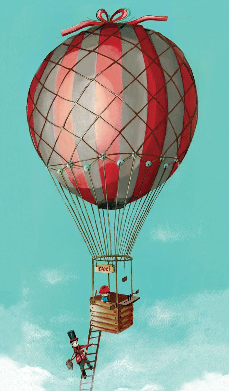 Taxi montgolfi re ga lle de crok d coration pour - Dessin montgolfiere ...