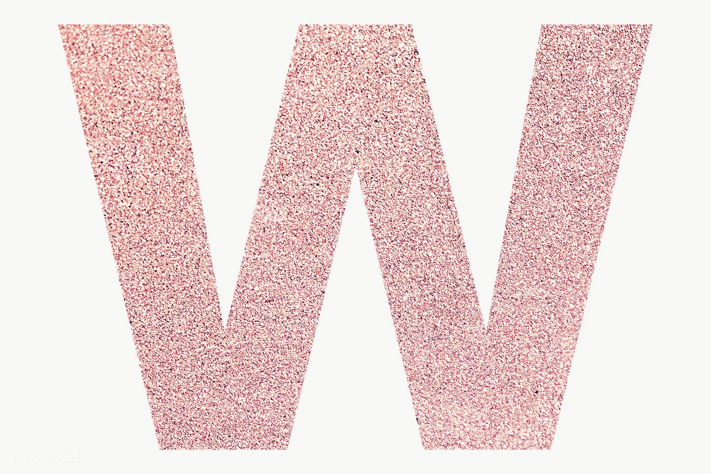 Glitter Capital Letter W Sticker Transparent Png Free Image By Rawpixel Com Ningzk V Transparent Stickers Lettering Numbers Typography