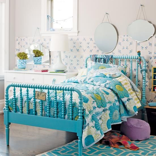 Bedroom Decor Chair Kids Bedroom Ideas Nz Bedroom Ideas Aqua Colors Of Bedroom: Kids Beds: Kids Aqua Blue Spindle Jenny