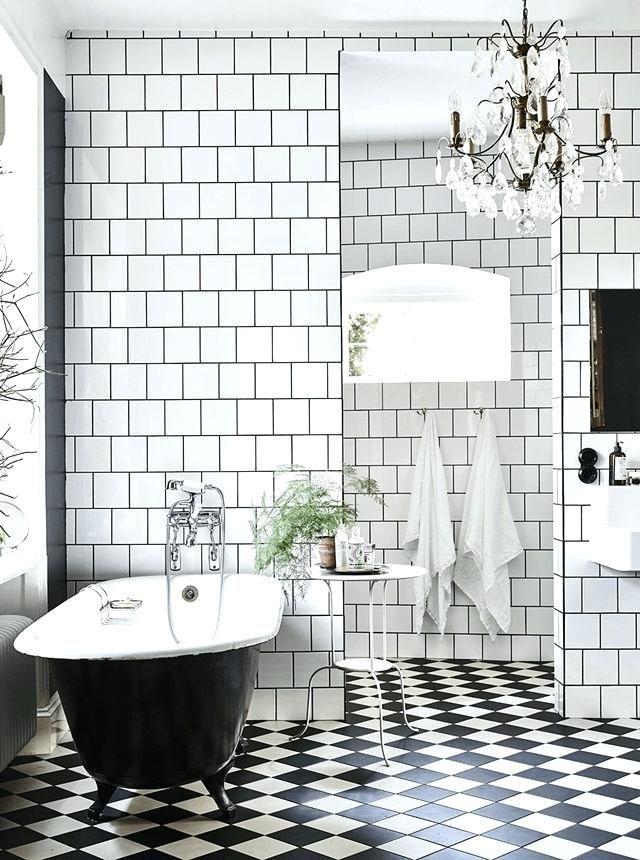 Image Result For Old Fashioned Black And White Tile Bathroom Floor White Bathroom Decor Black And White Bathroom Floor Black And White Tiles Bathroom