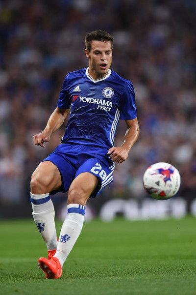 Cesar Azpilicueta of Chelsea in action during the EFL Cup second round match…