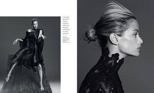 'Black Swan' Carolyn Murphy by Paola Kudacki for Porter No.5 Winter 2014 [Editorial] - Fashion Copious
