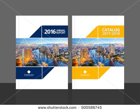Cover design for annual report and business catalog, magazine, flyer - business report sample