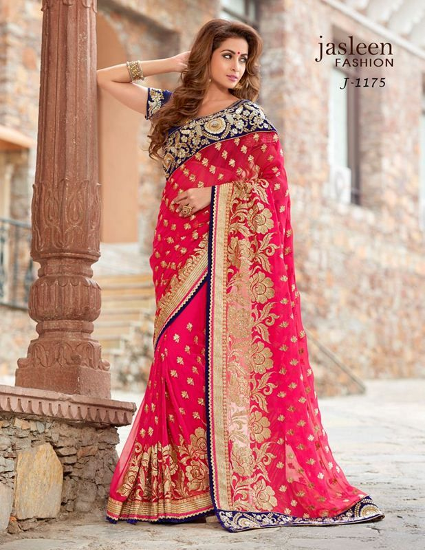 db7132e7c2 Jasleen fashion embriodered designer net sarees online, jasleen designer  fancy fabric partywear saree