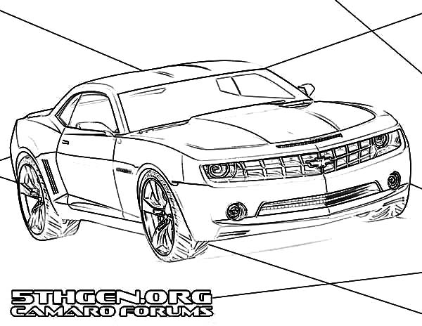 Bumblebee Car Muscle Camaro Car Coloring Pages Best Place To Color In 2020 Camaro Car Cars Coloring Pages Chevy Camaro