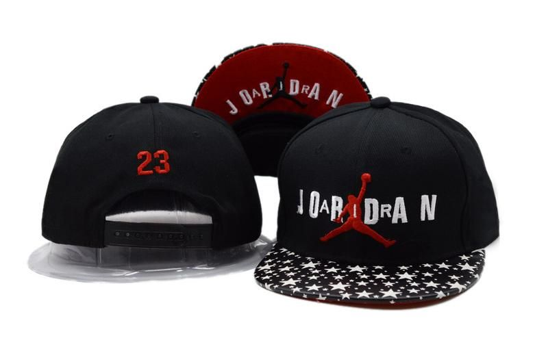 d6234156152 Men s Nike Air Jordan The Jordan 23 Jumpman Logo Custom Stars Print Visor  Snapback Hat - Black   Red