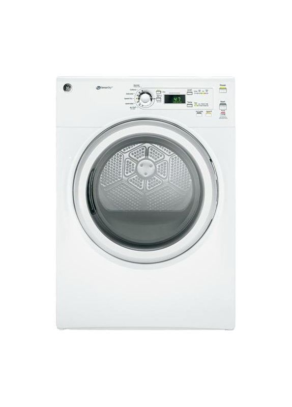 Ge Gfdn110ed 7 0 Cu Ft Capacity Duradrum Electric Dryer With He Sensordry White Dryers Dryer Electric Electric Dryers Gas Dryer White Dryer