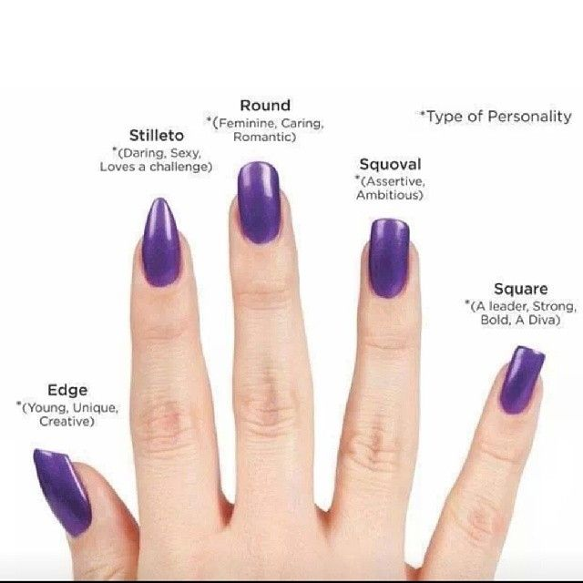Nail Types Nails Pretty Art Purple Diy Ideas Designs