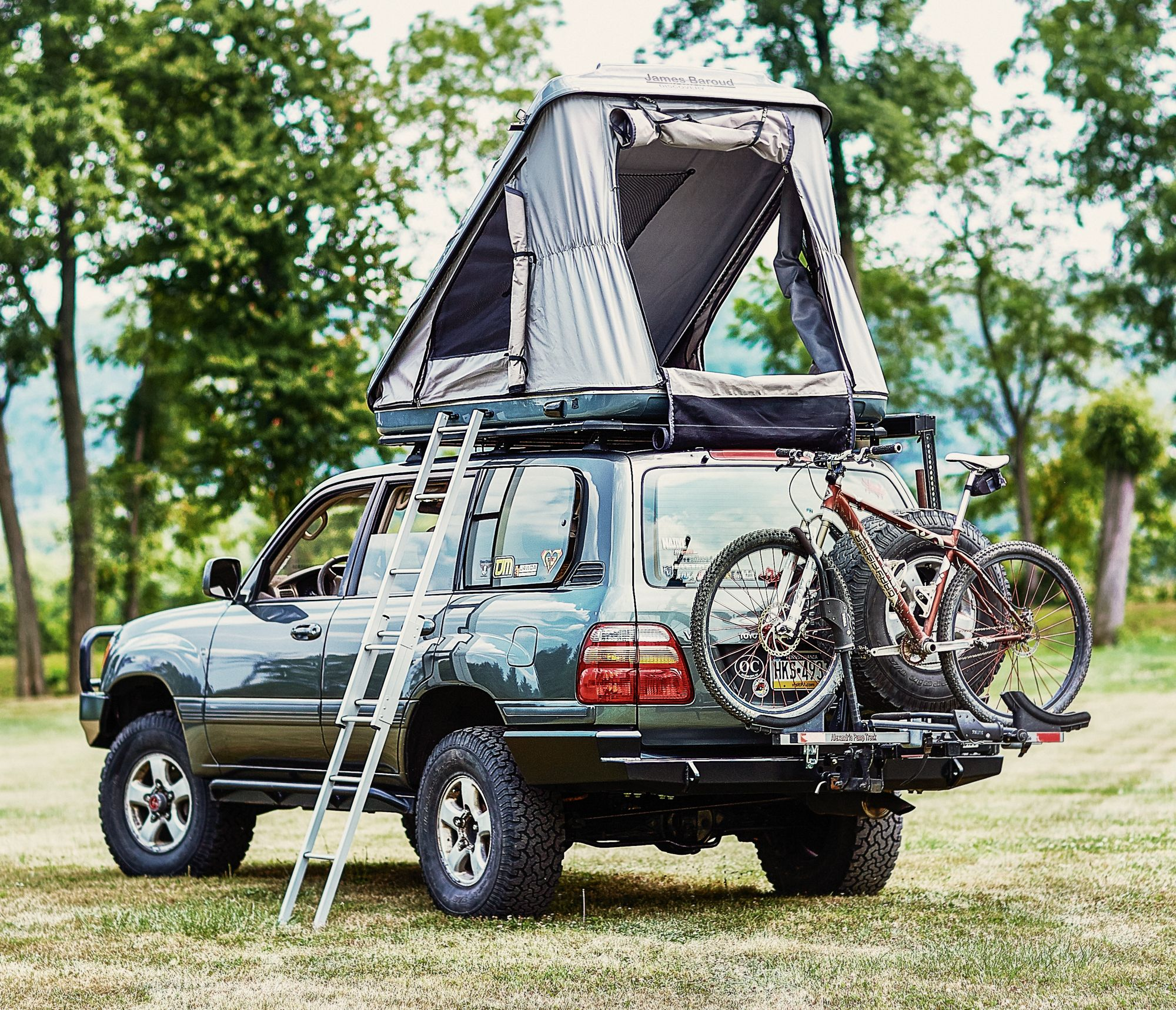 James Baroud Discovery Rooftop Tent Adventure Ready Roof Top Tent Toyota Land Cruiser Tent
