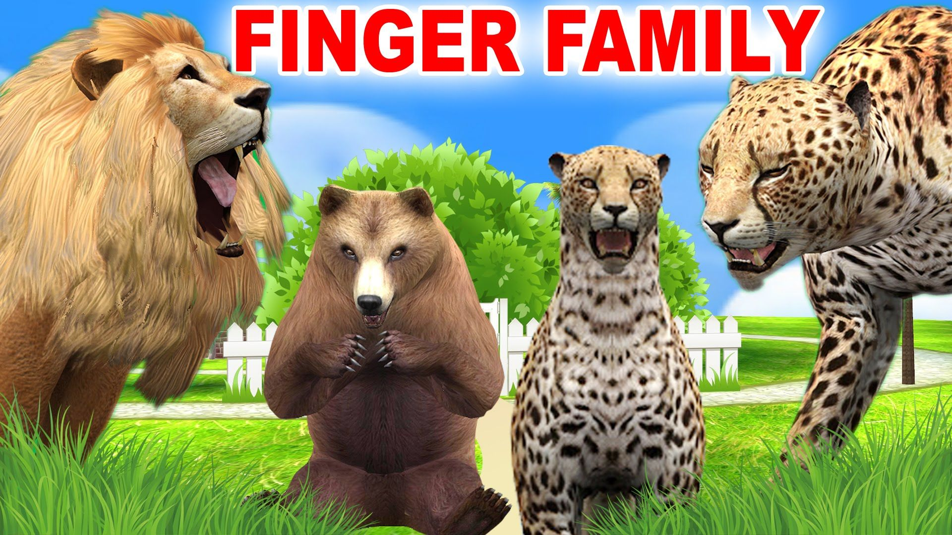 wild animals cartoons finger family nursery rhymes funny animal