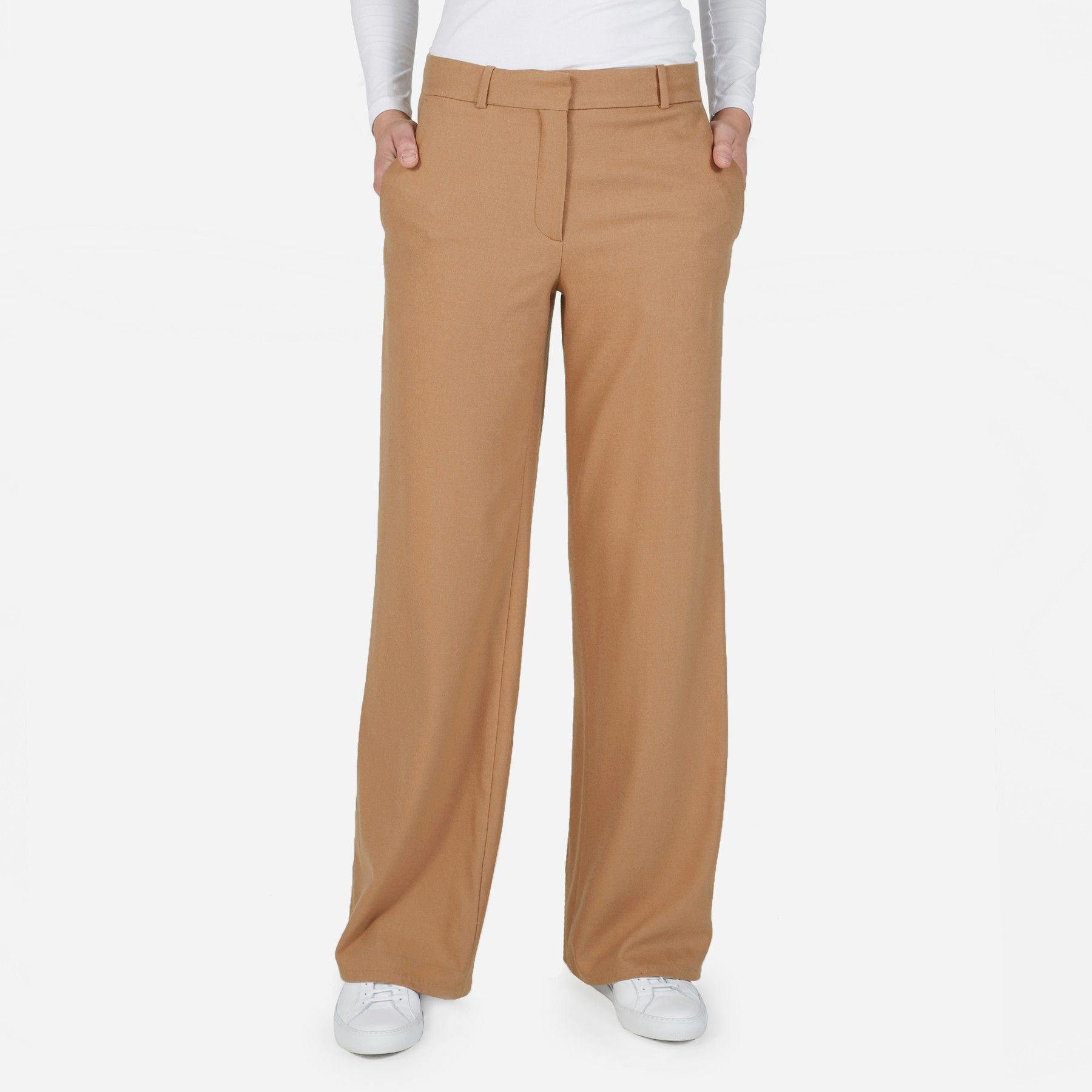 The Premium Wool Flannel Full Leg Pant | Everlane