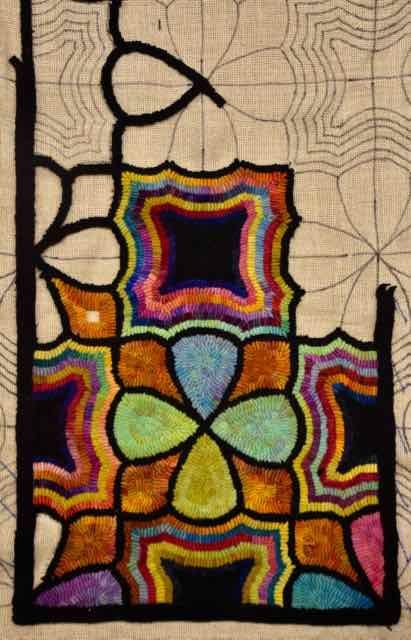 1 Yard Of Rainbow Colors Rug Hooking Rugs Bohemian Rug