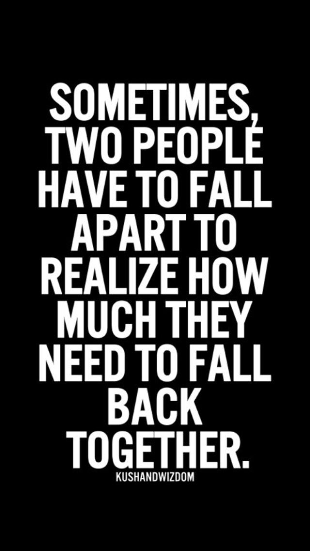 We all went down the falling apart but I don't know about the falling back. 😢