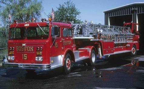 Boston Ma Fd Ladder 15 Maxim 10039 Tda Boston Fire