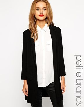 10a7903f5c1b New Look Petite Longline Duster Coat | Things to Wear | Long a line ...