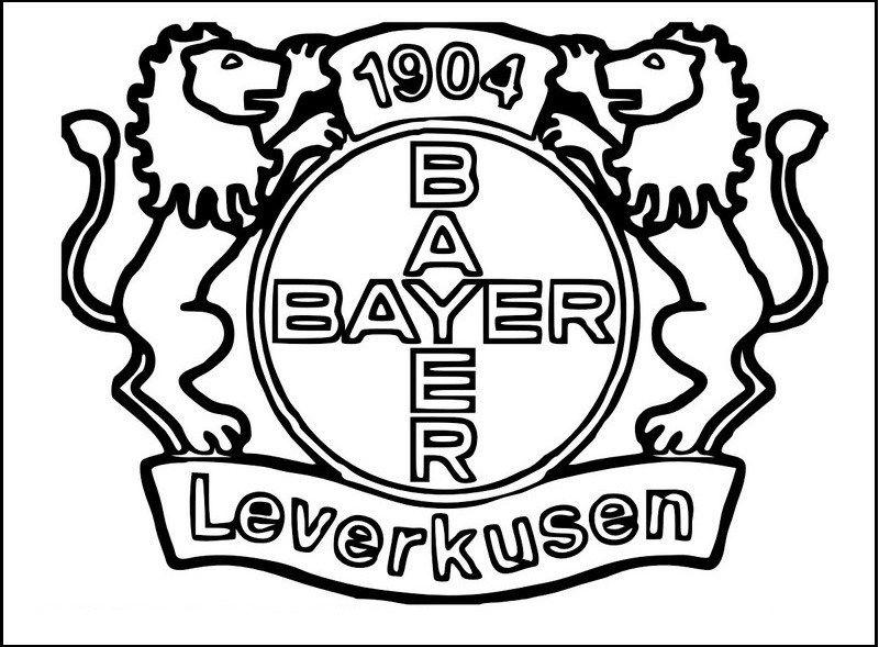 Bayer Leverkusen Soccer Club Logo Clip Art Coloring Pages Ausmalbilder Fussball Vorlagen Malvorlagen
