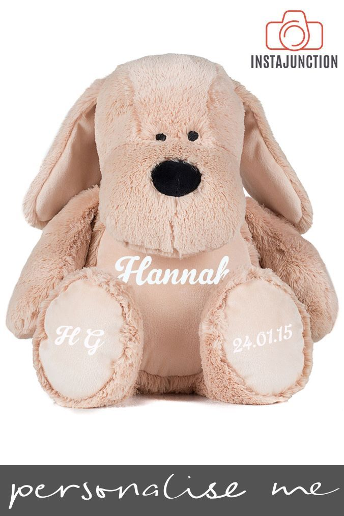 Personalised Cuddly Dog By Instajunction Brown Dog Toys Toys