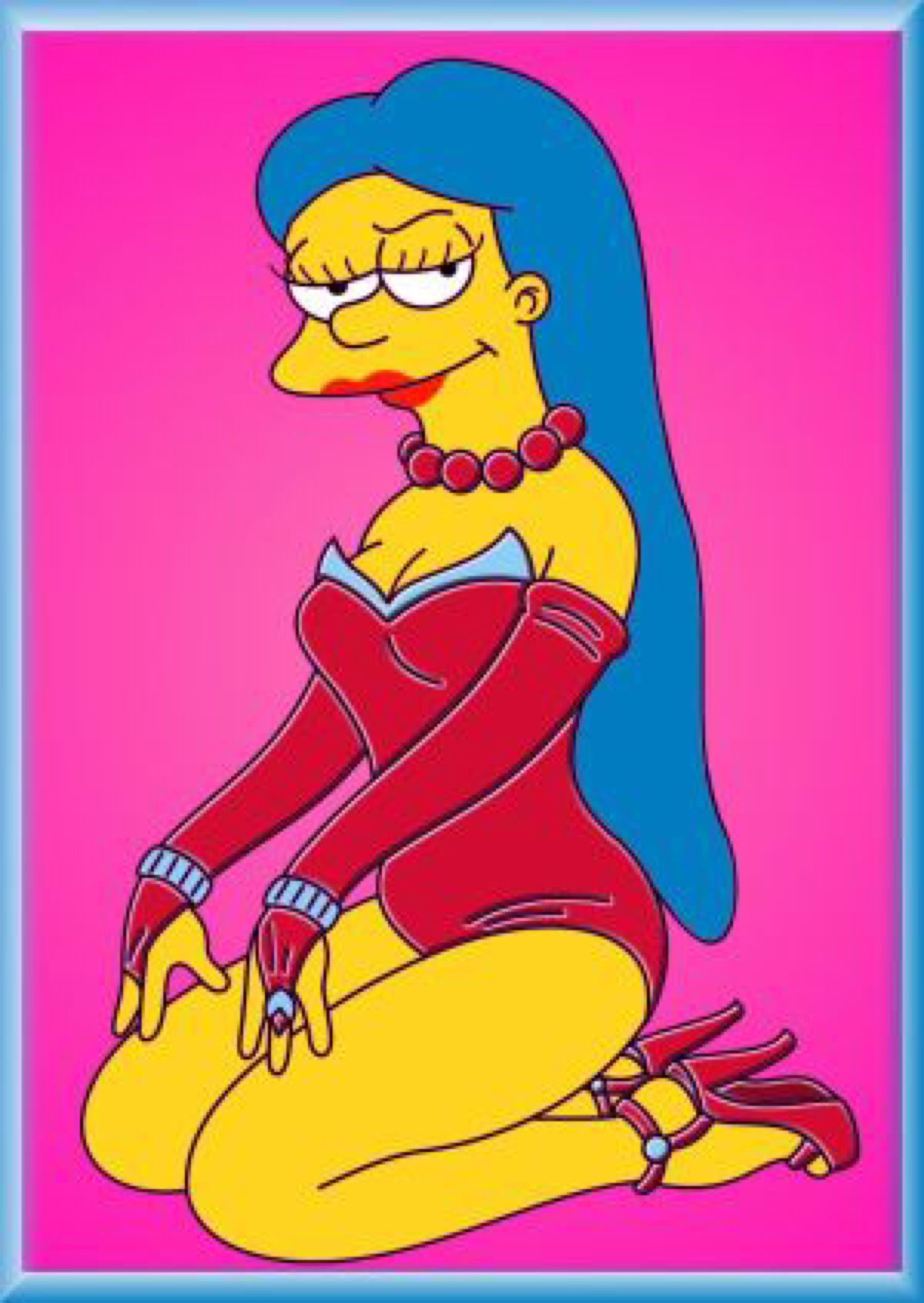 Marge Pinup By Leif J On Deviantart Marge Marge Simpson