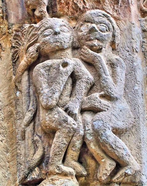 Resultado de imagen de San Lorenzo de Vallejo de Mena  Adán y Eva