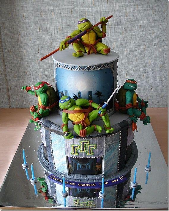 Terrific Teenage Mutant Ninja Turtles Cake Teenage mutant ninja