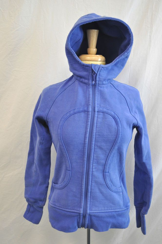 HOT! Basic Warm Lululemon Scuba Hoodie Blue SZ 6 #LULULEMON #Sweatshirt