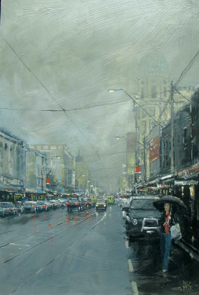 Mike Barr - Chapel Street Melbourne | Melbourne | Rain art ...