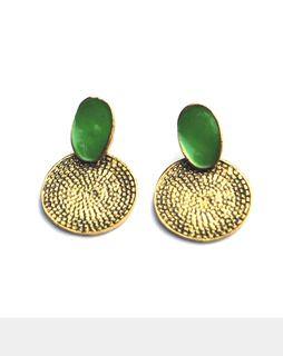 Bronze Goddess Earrings bronzegreenE022BG