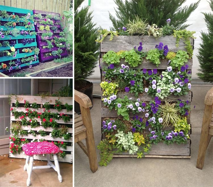 Kreative Idee für einen Paletten Blumenkasten   Garten   Pinterest ...