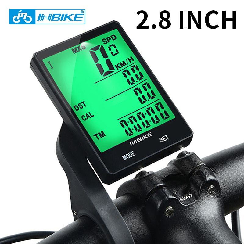 Inbike 2 8 Inch Bike Wireless Computer Rainproof Multifunction Riding Bicycle Odometer Cycling Speedometer Wireless Computer Cycling Computer Bicycle Computers
