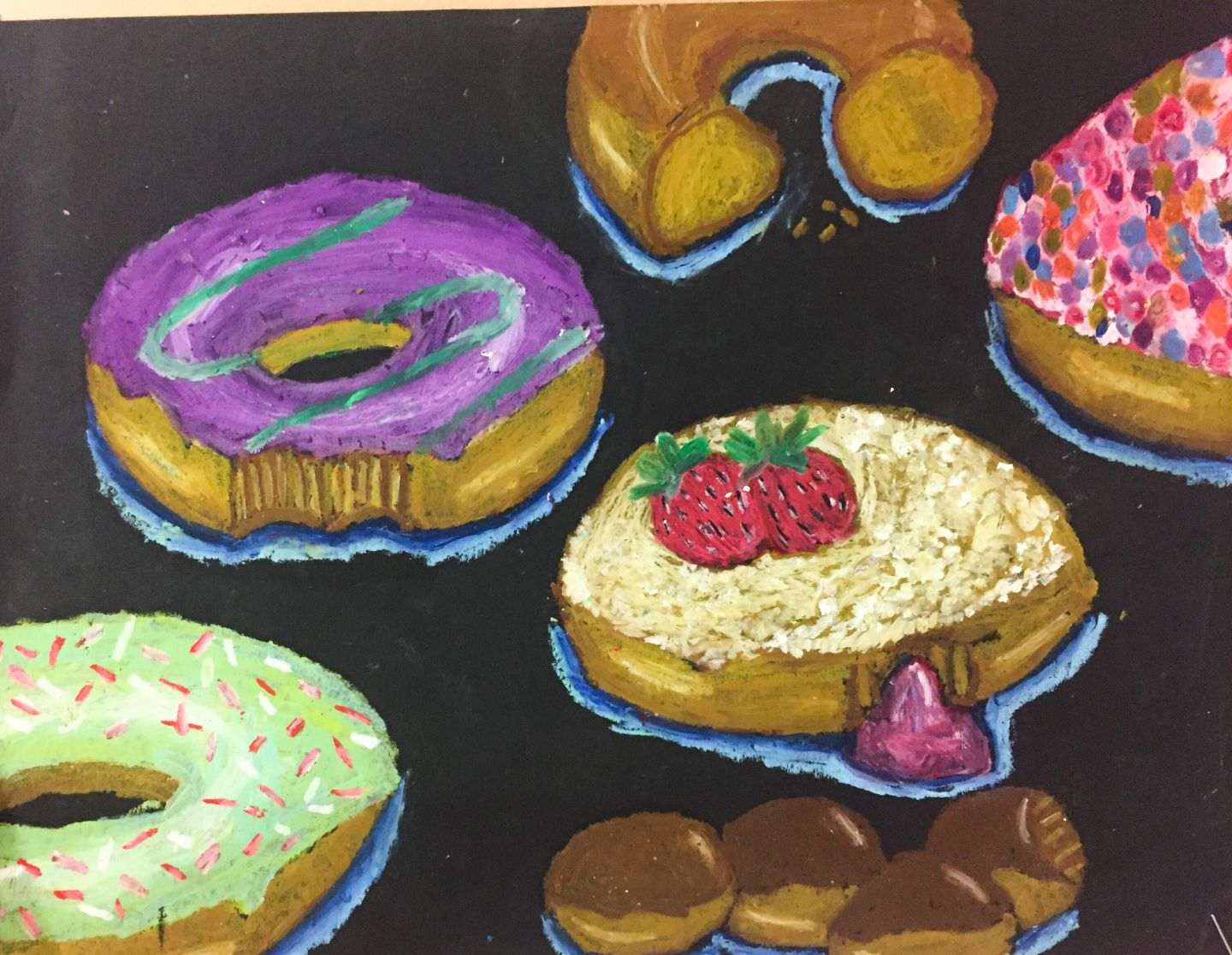 Donut Oil Pastel Lesson Plan That Art Teacher With