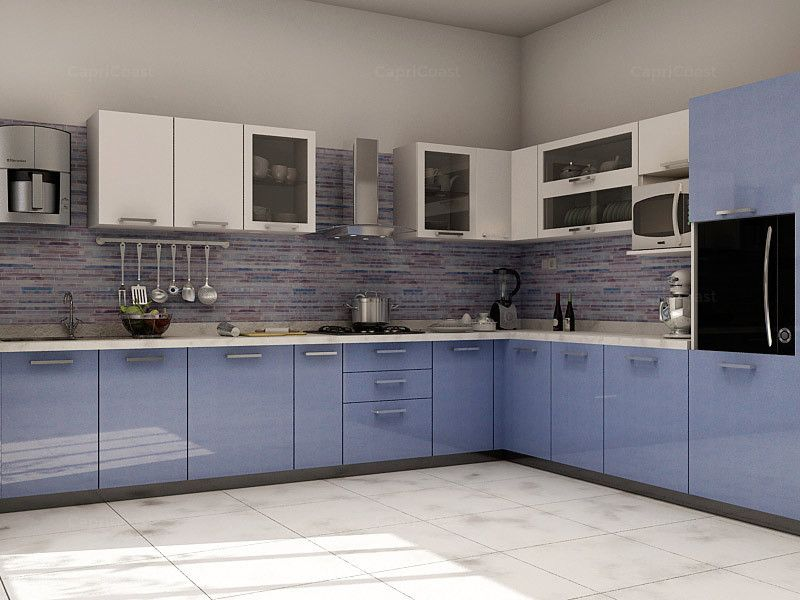 Lshaped Malibu Modular Kitchen On Capricoast Is Fulfilled Adorable Modular Kitchen L Shape Design Decorating Inspiration