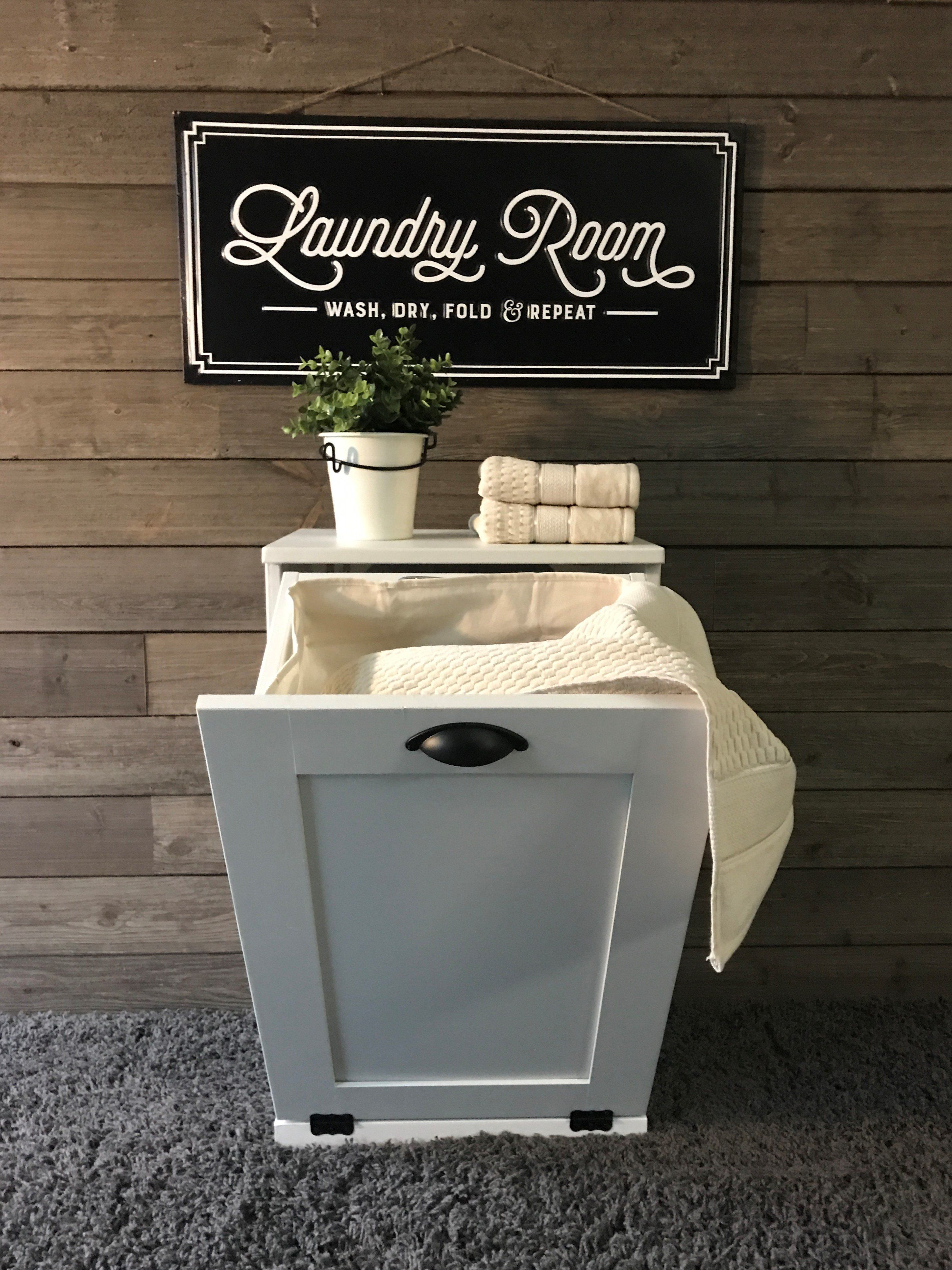 Tilt Out Laundry Hamper Single Bin White S Lau W Laundry