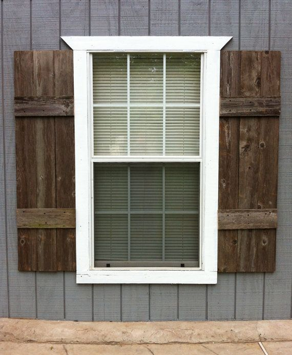 SHUTTERS (interior or exterior). Custom made from reclaimed wood. Ready to  install - SHUTTERS (interior Or Exterior). Custom Made From Reclaimed Wood
