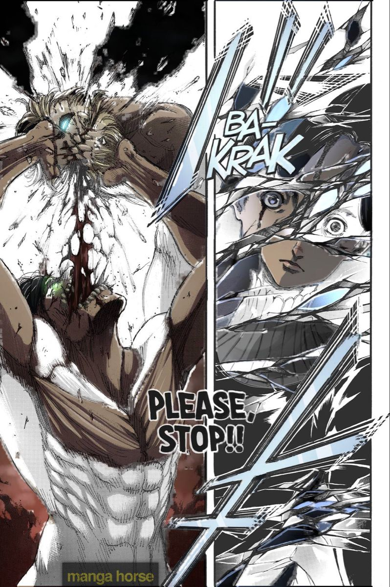 Part Manga Part Colored attack on titan manga panel в 2020