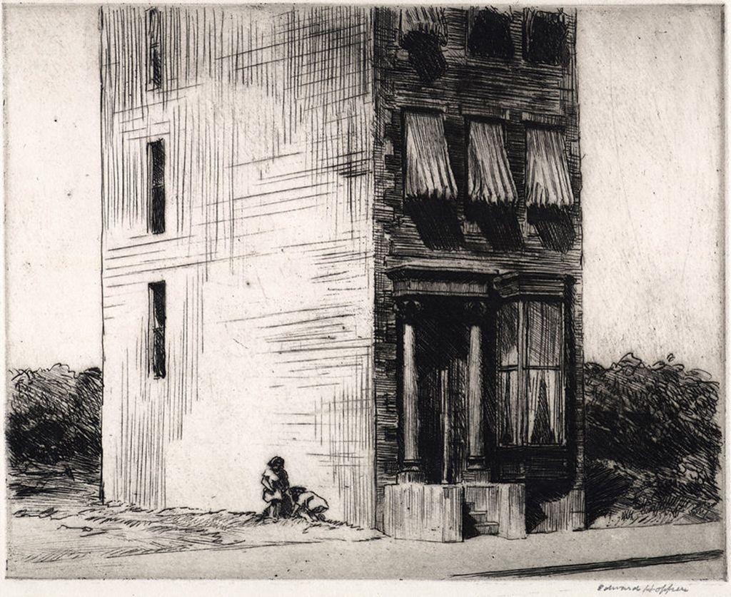 Edward Hopper / The Lonely House / 1923 / Etching | Edward