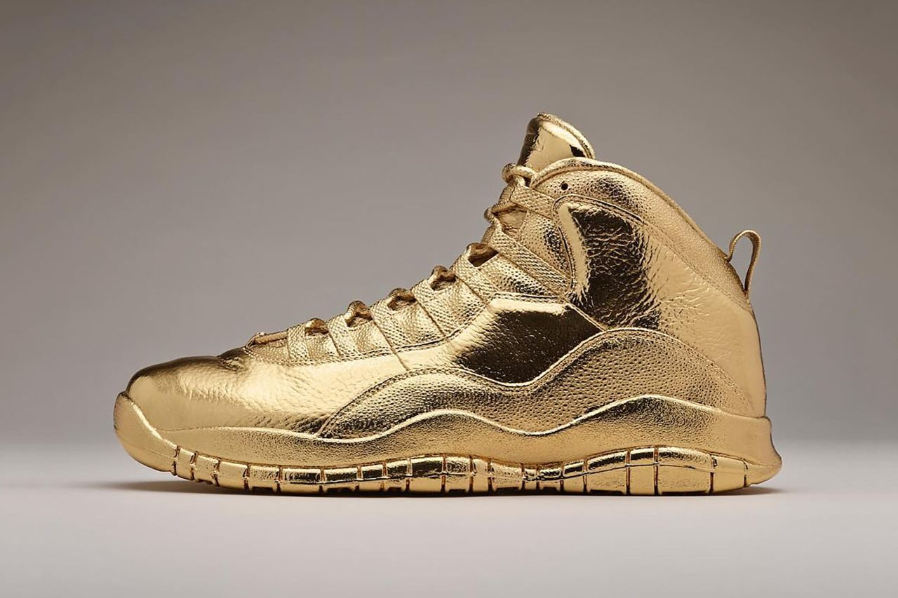 low priced 9f404 46ad1 Drake Solid Gold Air Jordan 10 OVO   HYPEBEAST