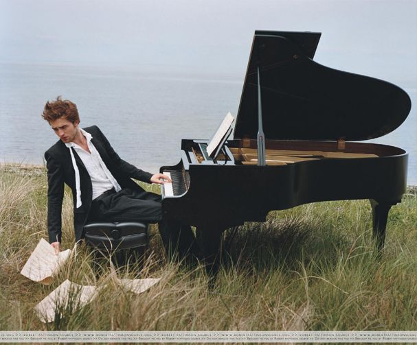 Robert Pattinson Playing Piano | ... .com: The Music of Robert Pattinson - NEWS AND UPDATES