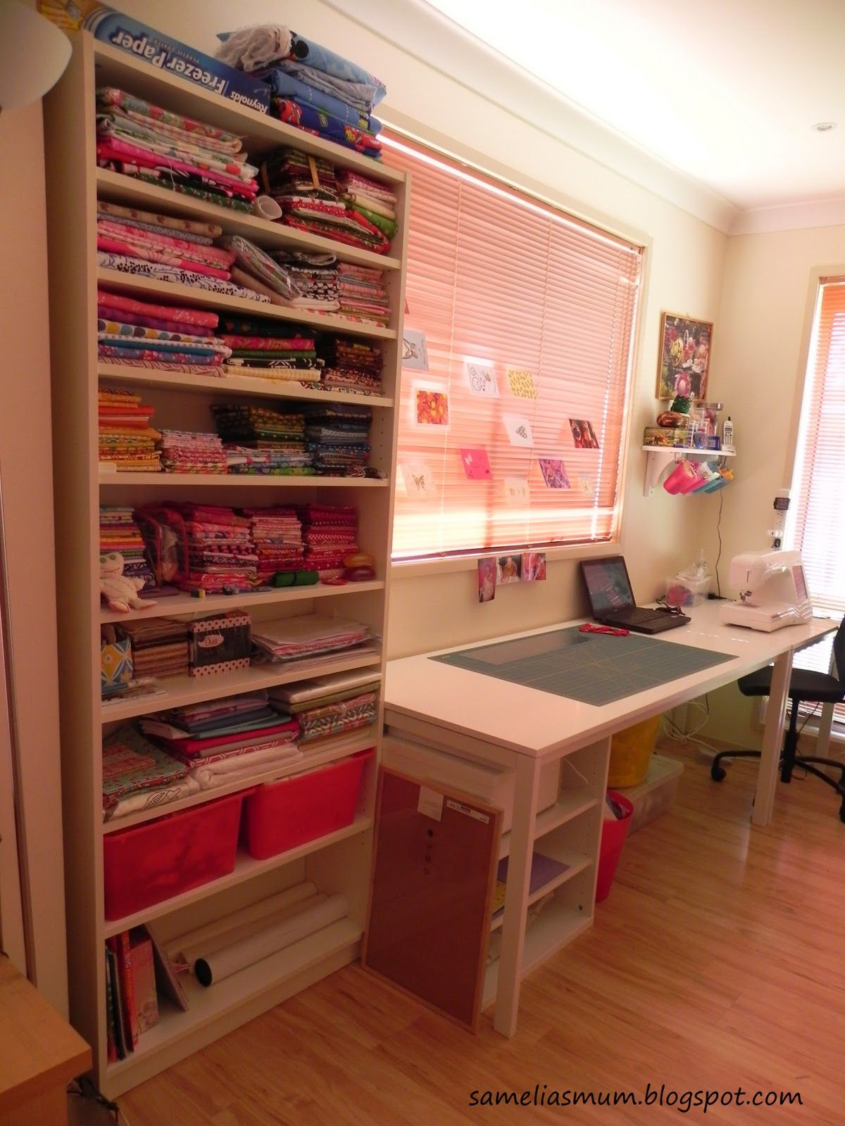 My Sewing Space - And Sew We Craft