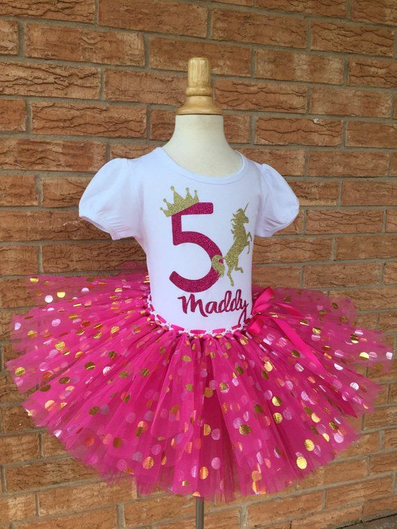 Fifth Unicorn Birthday Shirt 5th Outfit Girls Party