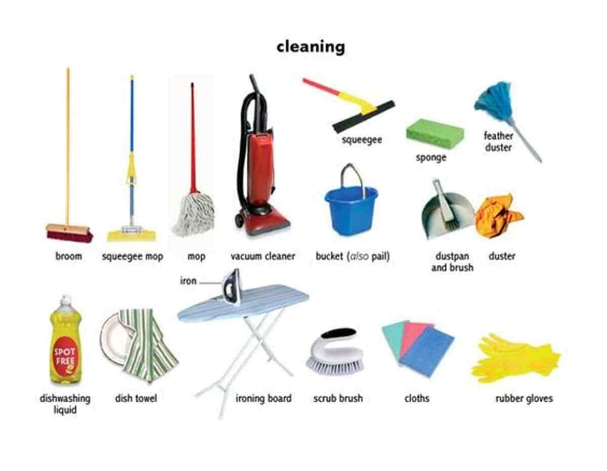 English Vocabulary House Cleaning
