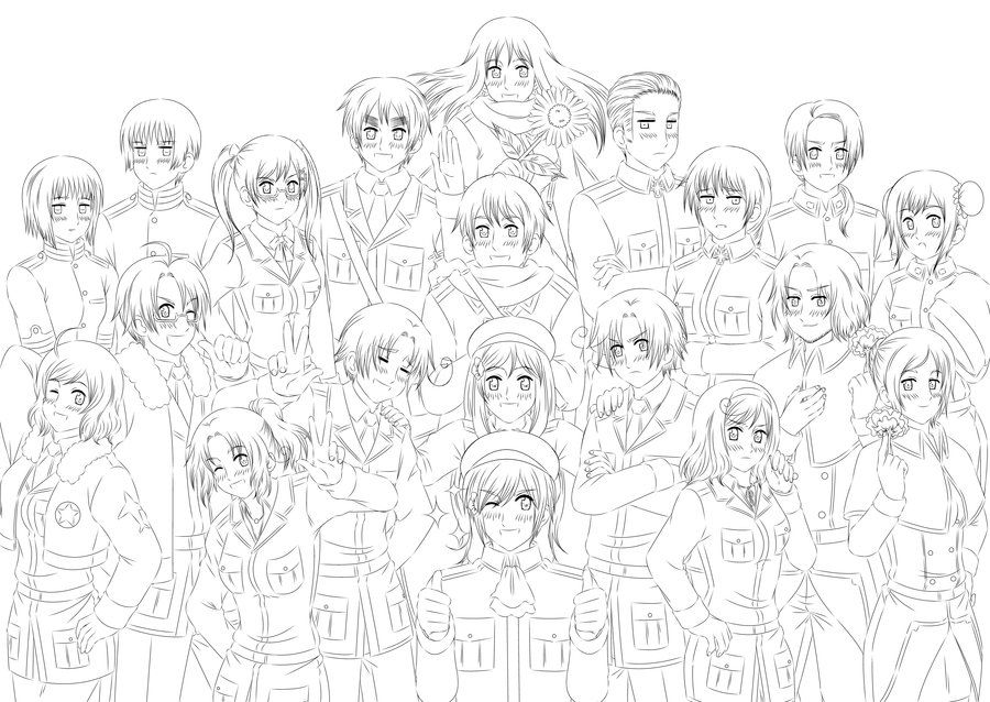 hetalia coloring pages # 21