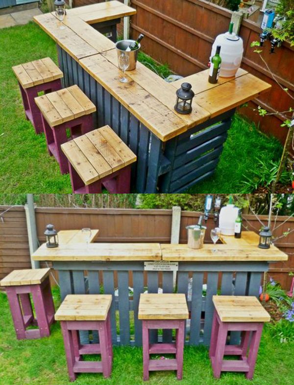Creative Wooden Pallet for Wine Bar and Racks | Pallets in 2018 ...