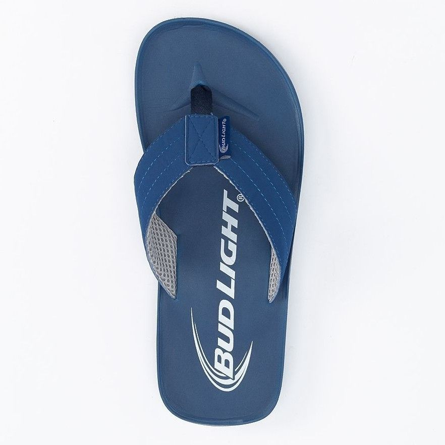 27f5c234e241 Bud Light Sandals Flip Flops Sandals Beer Slip on Blue White NEW Budweiser  Beach  BudLight  FlipFlops