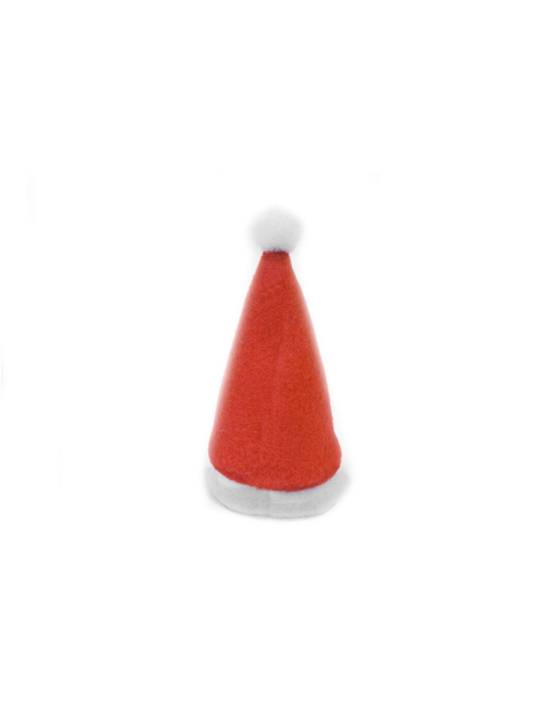 3 Decorations Bonnet De Pere Noel 11 X 5 Cm Noel Deco Rouge